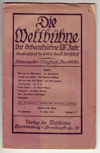 """Die Weltbühe"", 25. April 1918"