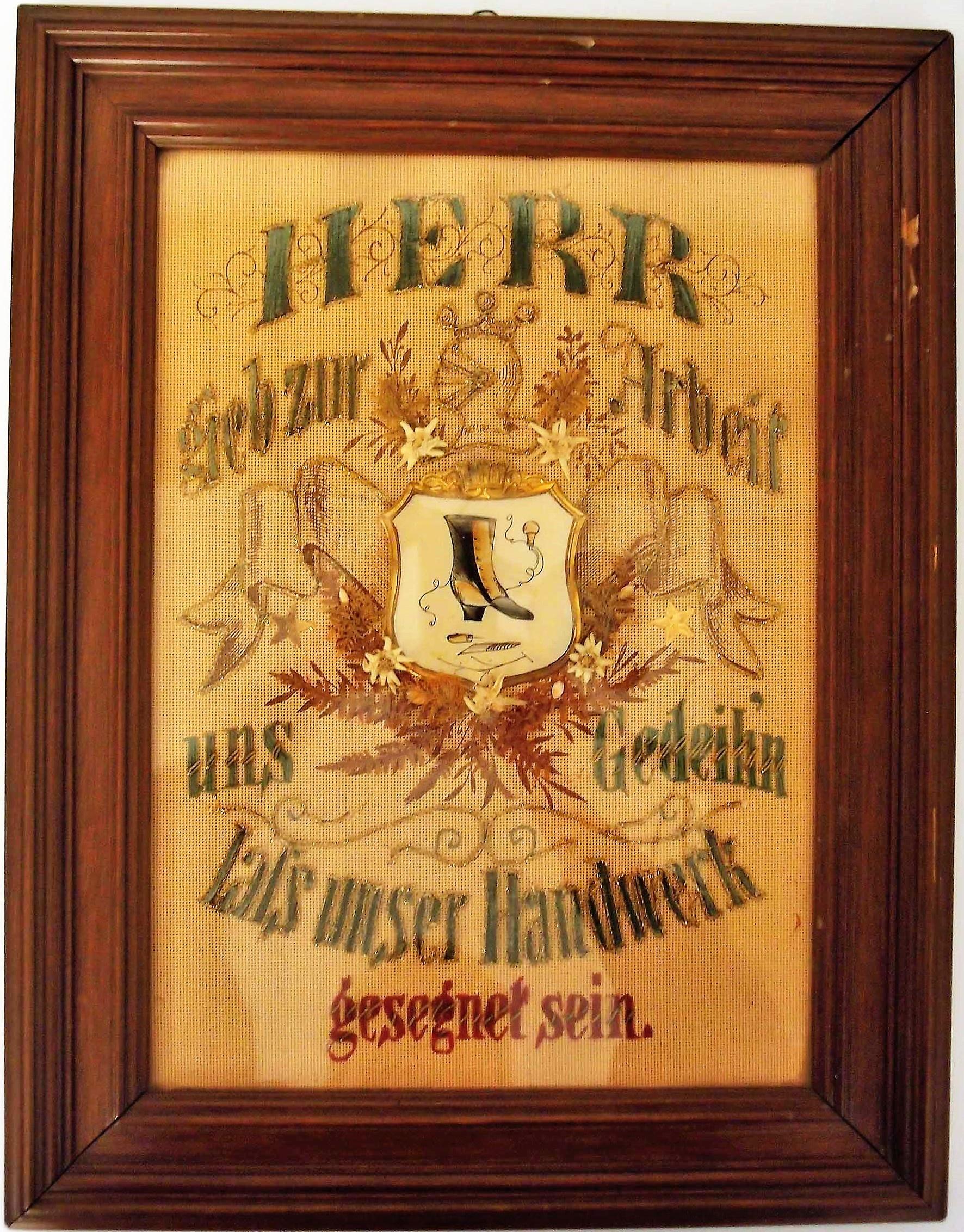 Handwerkerspruch im Rahmen :: Museum für Stadtgeschichte Templin ...