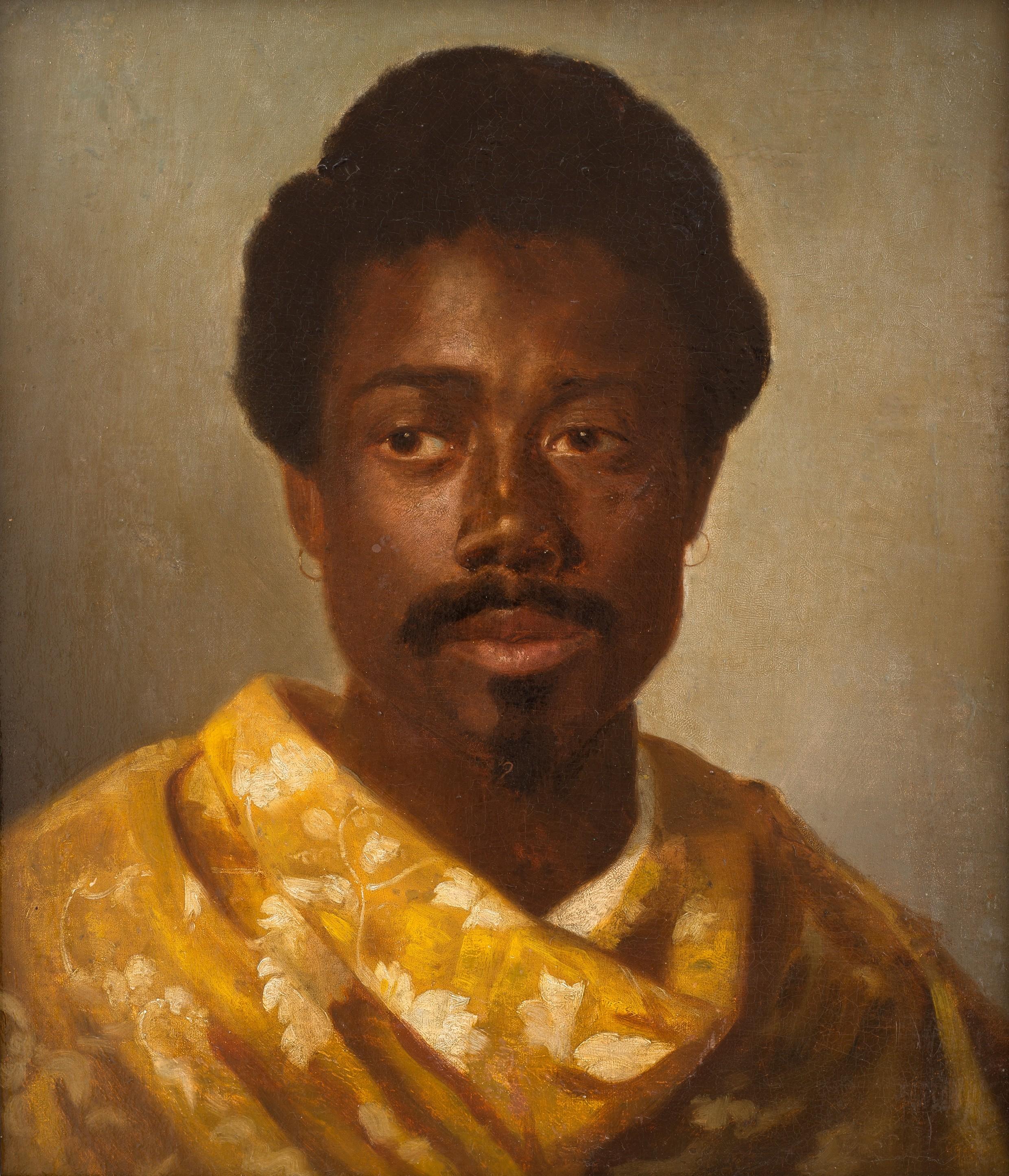 Wilhelm Gentz: Portrait of Mohammed Farady, oil painting, 1889 ((Theodor-Fontane-Archiv, Foto: Ronka Oberhammer/Lorenz Kienzle, CC BY-NC-SA))