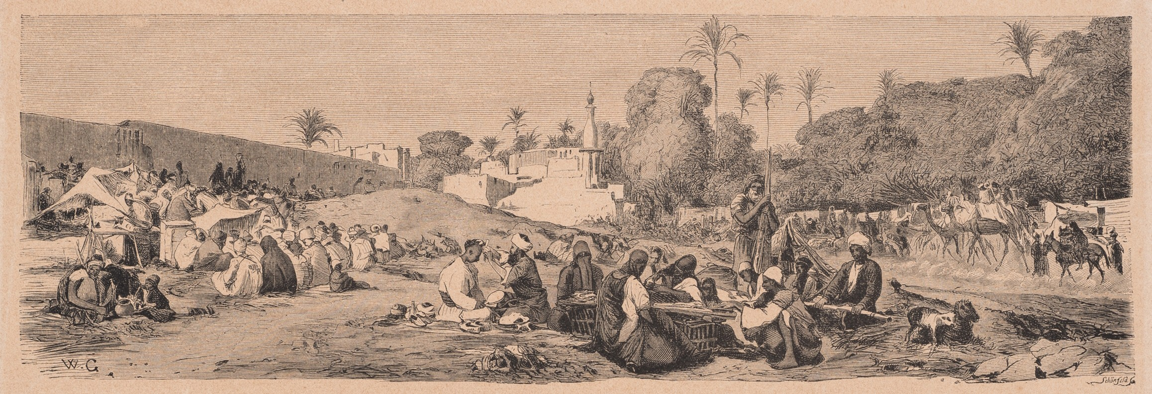 Wilhelm Gentz, Market day in Cairo, German illustrated sheet for young and old, No. 65, From the Orient, 1868 (Museum Neuruppin, CC BY-NC-SA)