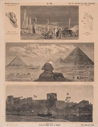 German illustrated sheet, No. 158, On the ruins of ancient Egypt.