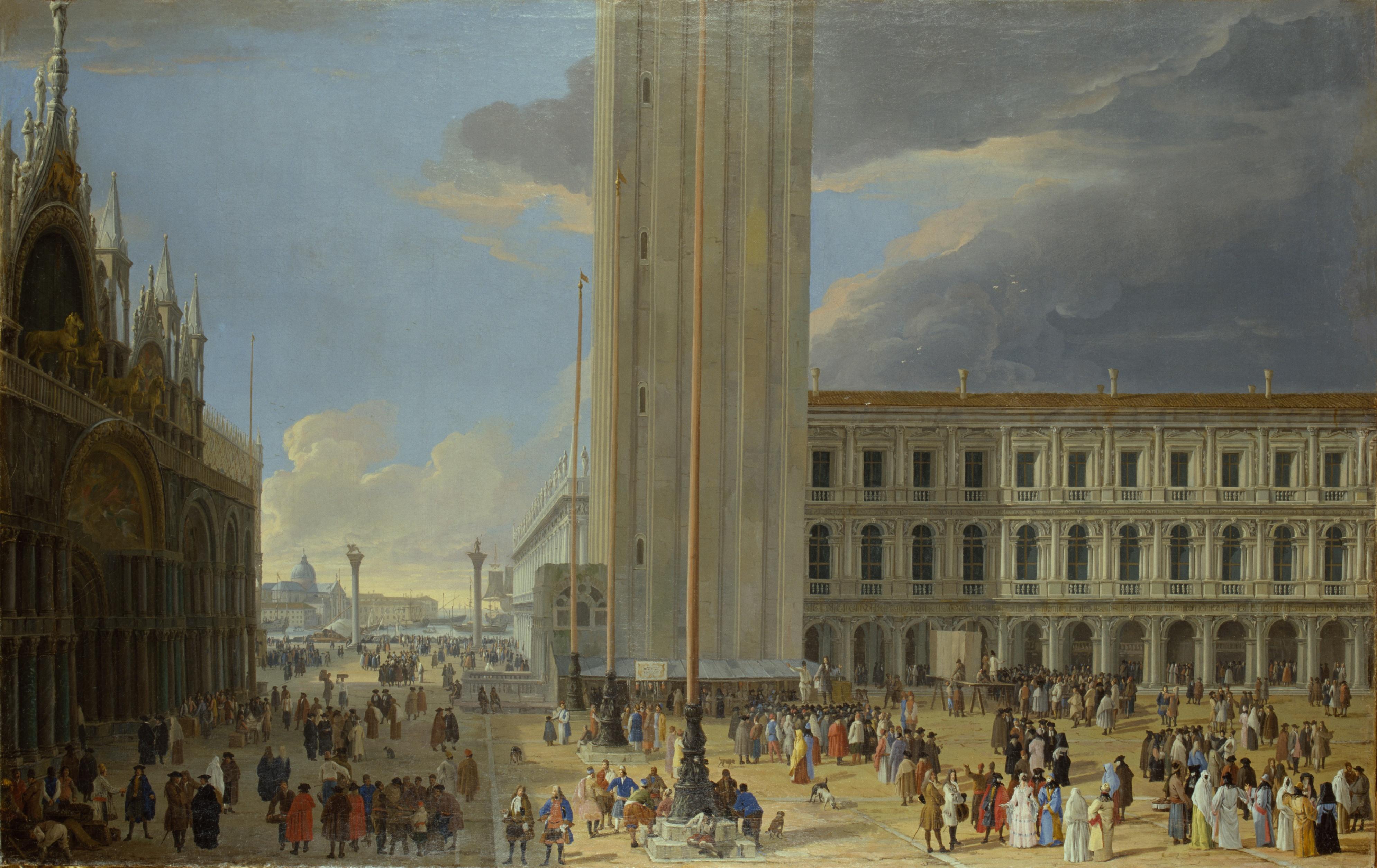 Der Markusplatz In Venedig Stiftung Preußische Schlösser Und