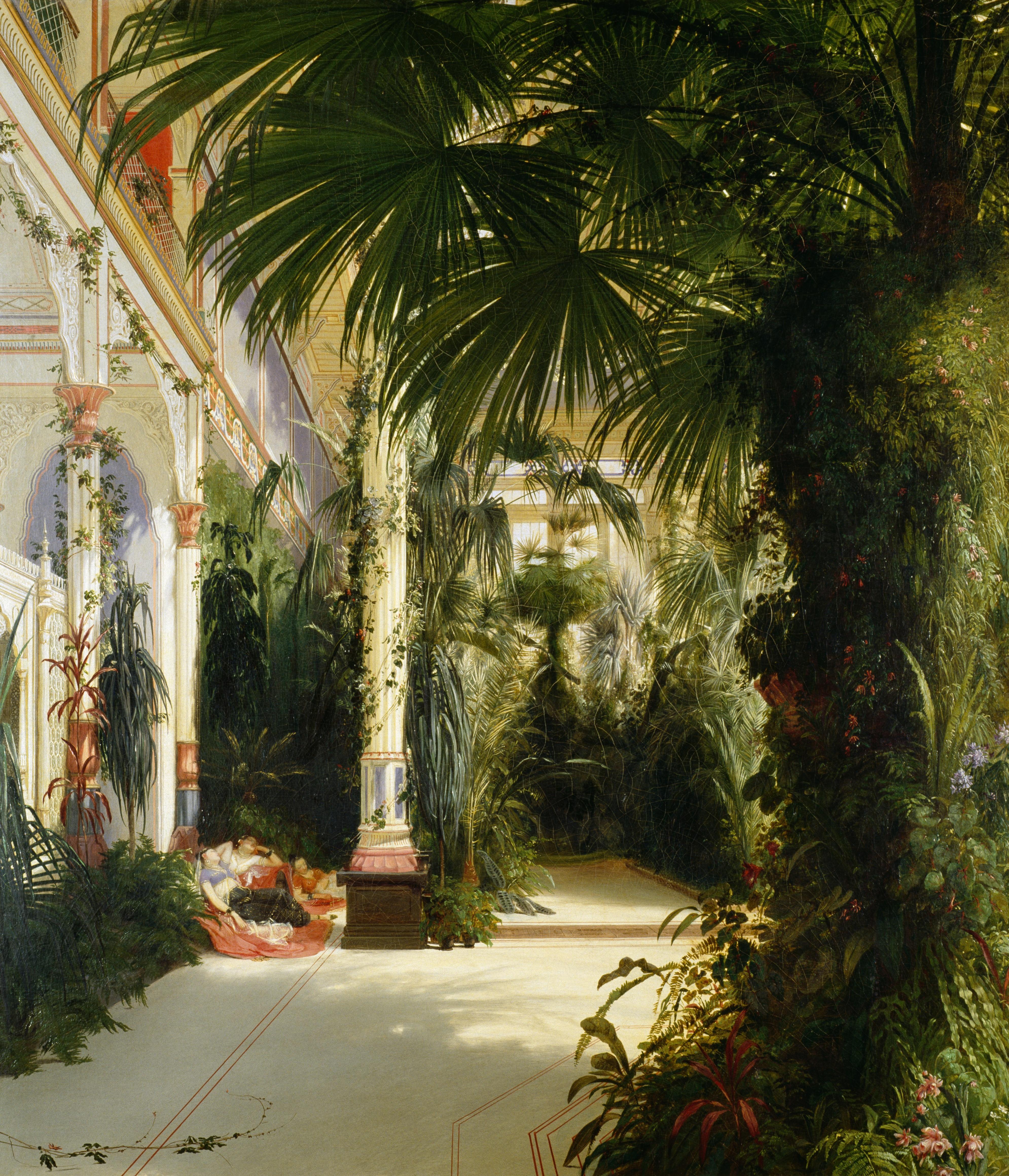 Inneres Des Palmenhauses Auf Der Pfaueninsel Stiftung Preußische